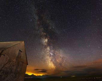 Milchstraße Galaxie Nachthimmel Sterne Platz Universum Wallart