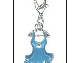 Blue tutu dress charm