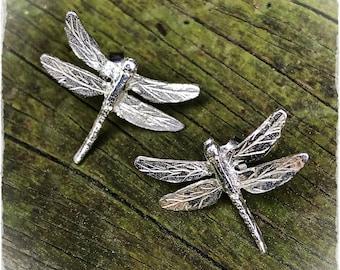 Dragonfly Earrings. Earrings Silver Dragonflies. Earrings Silver Dragonfly Close pressure.
