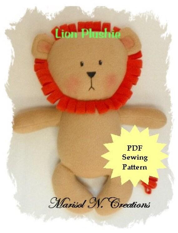 Stuffed Animal Sewing Pattern Plush Sewing Pattern PDF