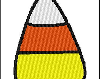 Halloween Candy Corn Embroidery Pattern Design