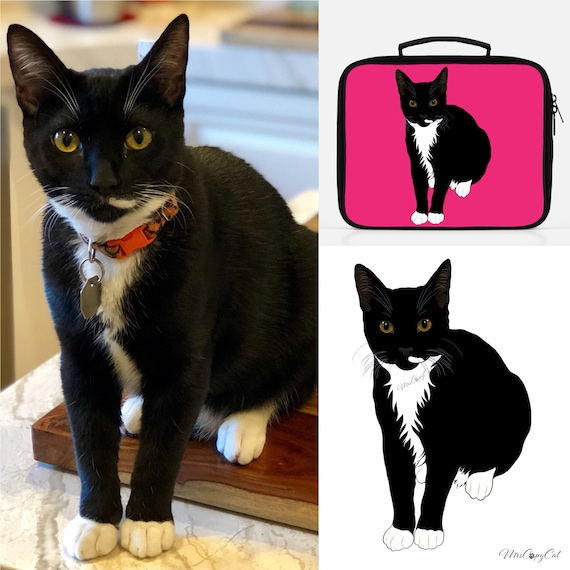 Custom Cat Lunchbox - With Your Kitty's Portrait
