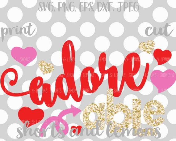 Valentine Svg Valentine S Day Svg Adorable Svg Valentine S Day