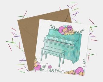 Piano Birthday Card