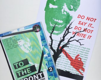 TO THE FRONT Zine Issue Two: B-Movie Horror Culture