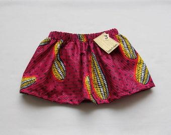 African Wax Print Skirt Girl's Size Three