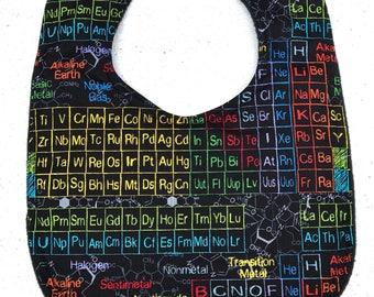 Science Baby Bib - Periodic Table - infant bib  - dribble bib - nerd baby - science - chemistry - baby shower gift - baby gift