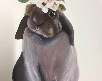 Unframed rabbit art print