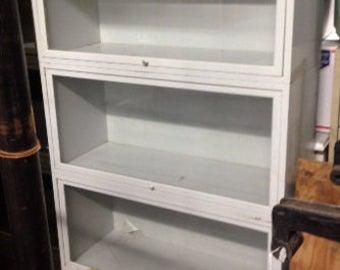 Metal Lawyers Bookcase in White 3-shelf