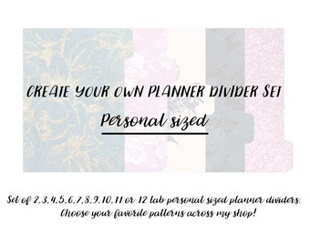 Create your own set of Planner Dividers - Personal Sized
