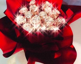 24k Gold Roses Handmade Bouquet