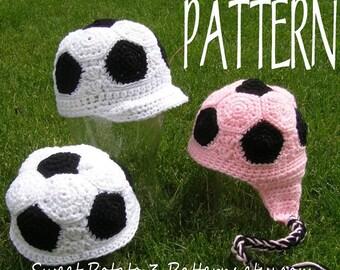 PATTERN Soccer Beanie - Crochet