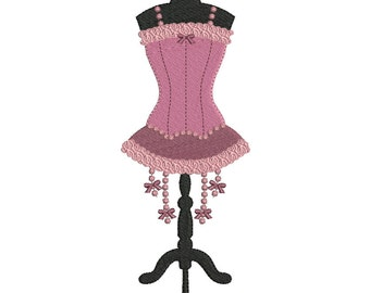 Instant download Lingerie corset mannequin embroidery design