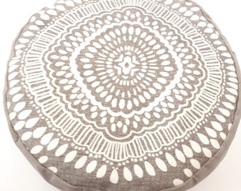 Get comfy... Mocha Mosaic Organic Buckwheat Meditation Cushions