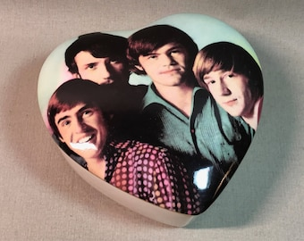 Monkees Heart Box Ceramic Trinket Dish Two Available