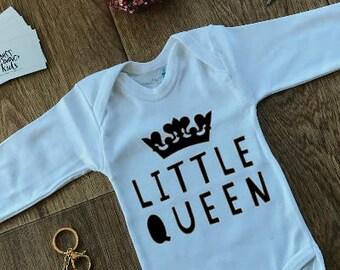 Little Queen Baby Onesie, Baby Girls Bodysuit, Princess Baby Girl Bodysuit, Queen Bodysuit, Little Queen, Newborn Gift, Baby Shower Gift,