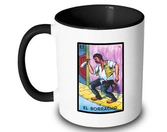 El Borracho Mug Drunk Loteria Card Mexican Bingo