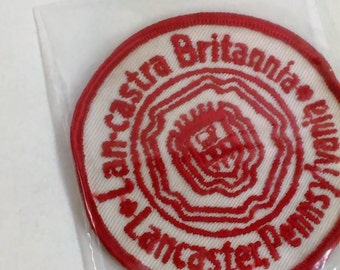 "Patch/Applique /Lan-castra Britannia- Lancaster Pennsylvania/3"" Round B"