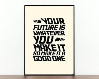 Back To The Future Quote Print Poster Last Night Darth