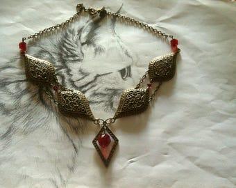 "Necklace oriental Ruby Red ""Jasmine"""