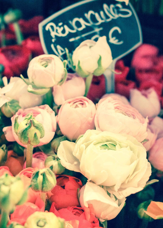 Paris Photography Romantic Ranunculus For Sale Paris Street