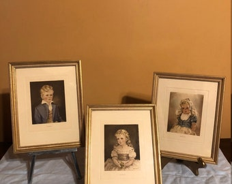 Anne E. Allaben artist published by Edward Gross Co. ; prints from original oil paintings  of Robert, Katrins & Marian