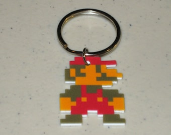 Super Mario NES 8 bit - Keychain, Necklace, Earrings, Charm, Stickers, Tattoos, Embroidered Patch, Magnets