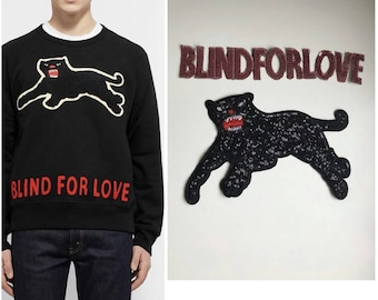 Gucci patches set/patch Gucci panther patch/l'aveugle par amour patch/blind for love patches set. Gucci patch