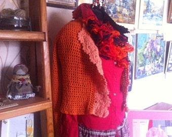 Jacket knitted Orange
