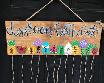 class birthday sign-classroom birthdays-teacher birthday sign-class door hanger-classroom decor-student birthday sign-pineapple classroom