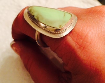 Lemon Chrysoprase statement ring