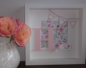 New Baby Girl Memory Frame