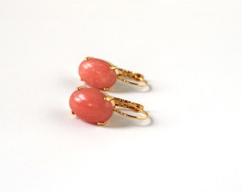 Sex in the city coral earrings
