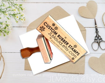 1.5x3 or 3x1.5 Custom Stamp Sized Wood Mounted Rubber Stamp Your logo, art Business Stamp Wedding Stamp  Stamp Branding Stamp Personalized