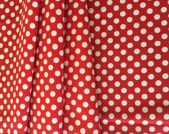 Riley Blake Basics Small Dot C350-80 Red 1/4 yard-1/2 yard