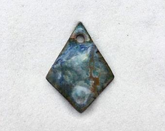 Medium Enamel Diamond Shaped Charm