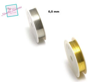 1 reel of copper wire (10 m x 0.5 mm), gold/silver