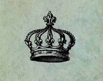 Fleur de Lys Crown - Antique Style Clear Stamp