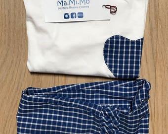 Blue sea check pijama for girls
