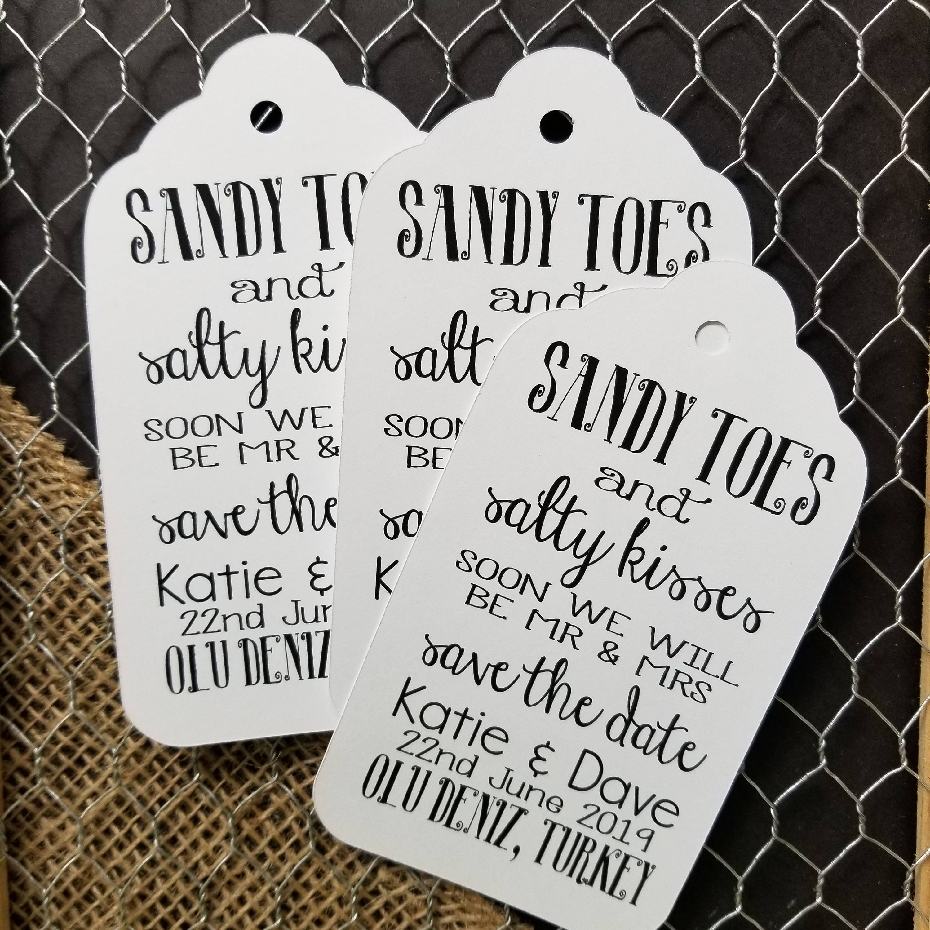 Sandy Toes and Salty Kisses Save the Date Beach Wedding Theme XLARGE ...