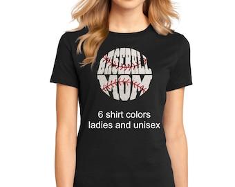 Women's Glitter Bling Baseball Mom shirt