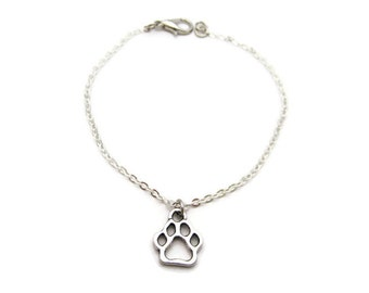 Dog Paw Bracelet Paw Print Bracelet Pet Lover Bracelet Dog Paw Jewelry Paw Print Jewelry Paw Jewelry Pet Parent Gifts