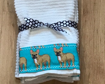 French Bulldog Hand Towels