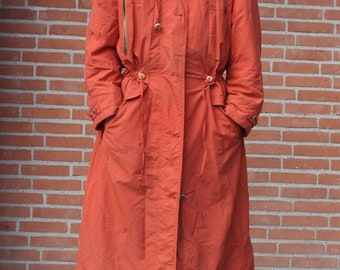 Long secondhand Coat in burned orange