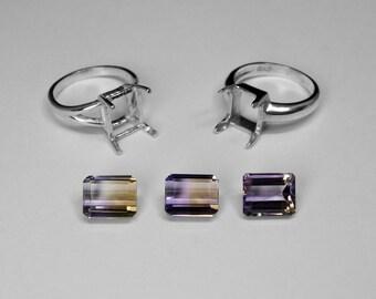 Ametrine Ring Choice in Silver, 10 x 8 mm