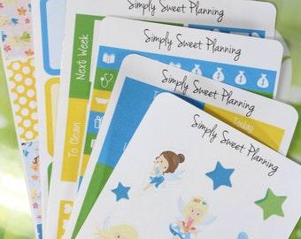 Fairy Themed Planner Sticker Kit - Planner Stickers - Happy Planner Stickers - Erin Condren - Functional Stickers - Weekly Planner