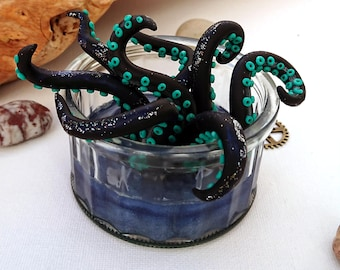 Lil Pot O' Tentacles - black and blue, in blue