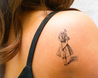 2 Alice in Wonderland Temporary Tattoos- GeekTat