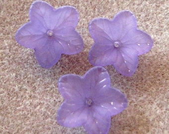 Frosted Purple Acrylic Lucite Flower Bead Cap 18mm 437