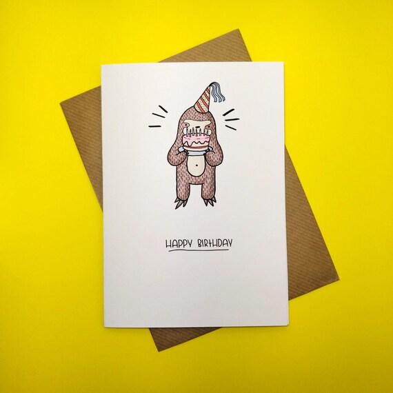 Faultier Geburtstag Karte alles Gute zum Geburtstagskarte